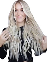 cheap -Synthetic Wig Body Wave Middle Part Wig Long Grey Synthetic Hair 65 inch Women's Party Highlighted / Balayage Hair Middle Part Dark Gray