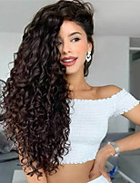 cheap -Synthetic Wig Water Wave Middle Part Wig Long Very Long Black Synthetic Hair 65 inch Women's Fashionable Design Party Middle Part Black