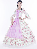 cheap -Maria Antonietta Retro Vintage Rococo Vacation Dress Dress Masquerade Women's Lace Satin Costume Pink Vintage Cosplay Party Prom Long Sleeve Floor Length Ball Gown Plus Size