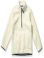 cheap -kids boys polar fleece lined sherpa quarter-zip jackets, natural, x-small