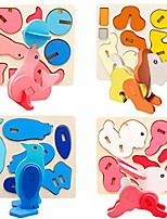 cheap -wooden puzzles for toddlers animal jigsaw puzzles for toddlers educational toys for 3 years old (dog)