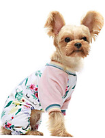 cheap -Dog Cat Jumpsuit Pajamas Unicorn Casual / Sporty Sweet Casual / Daily Dog Clothes Puppy Clothes Dog Outfits Breathable Pink Costume for Girl and Boy Dog Cotton XS S M L XL XXL