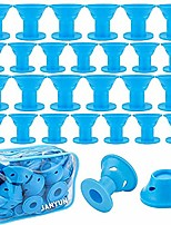 cheap -40 pcs magic hair rollers,include 20pcs large silicone curlers and 20pcs small silicone curlers (blue)