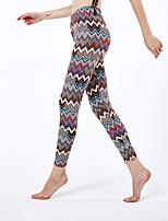 cheap -Women's Sporty Yoga Daily Skinny Leggings Pants Print Comfort High Waist Brown One-Size