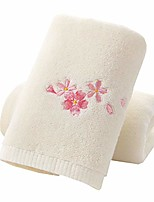 cheap -hand towel set, 2-pack, embroidered flower pattern 100% cotton soft absorbent towels for bathroom, 13.4 x 28.3 inch & #40;white& #41;