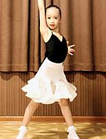 cheap -Latin Dance Skirts Lace Bandage Girls' Performance Sleeveless Natural Spandex
