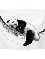 cheap -Wall Tapestry Art Decor Blanket Curtain Picnic Tablecloth Hanging Home Bedroom Living Room Dorm Decoration Polyester Panda Hugging The Moon Views