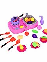 cheap -non-toxic kitchen toy,children's foggy kitchen (with lights and music) children's pretend toys birthday gift (pink)