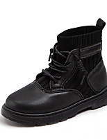 cheap -Boys' / Girls' Boots Combat Boots PU Little Kids(4-7ys) / Big Kids(7years +) Walking Shoes Black / Beige Spring / Fall / Booties / Ankle Boots