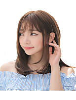 cheap -Synthetic Wig Curly kinky Straight With Bangs Wig Short Light Brown Synthetic Hair Women's Fashionable Design Cute Easy to Carry Light Brown