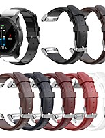 cheap -Watch Band for Fenix6s / Fenix6s Pro Garmin Classic Buckle Genuine Leather Wrist Strap