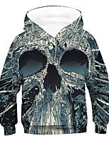 cheap -Kids Boys' Active Basic 3D Drawstring Long Sleeve Hoodie & Sweatshirt Gray