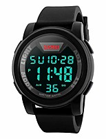 cheap -men's digital sports watch led screen large face military watches, waterproof luminous stopwatch alarm simple army watch (camouflage army green)