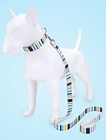 cheap -Dog Cat Pets Collar Leash Cute and Cuddly Decoration Nylon Rainbow