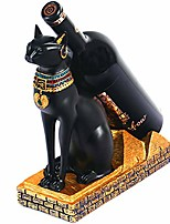 cheap -egyptian cat god resin wine bottle stand, creative wine rack single bottle tabletop holder for home decor articles display