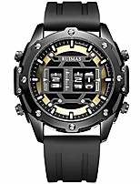 cheap -ruimas men's roller drum style quartz watches military sports wristwatch man silicone strap waterproof watch male
