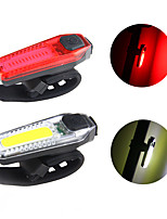 cheap -super bright bike tail light usb rechargeable powerful lumens waterproof bicycle led tail light 300 mah lithiumbattery easy to install for kids men women road mountain cycling safety flashlight (red)