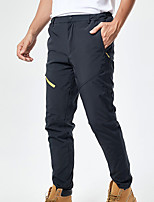 cheap -Men's Hiking Pants Softshell Pants Solid Color Winter Outdoor Regular Fit Windproof Fleece Lining Breathable Warm Pants / Trousers Bottoms Black Grey Hunting Climbing Camping / Hiking / Caving M L XL