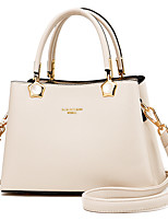 cheap -Women's Bags PU Leather Top Handle Bag Zipper for Daily / Date Earth Yellow / Black / Red / Green