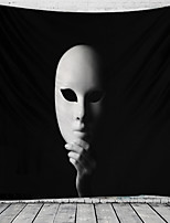 cheap -Halloween Wall Tapestry Art Decor Blanket Curtain Picnic Tablecloth Hanging Home Bedroom Living Room Dorm Decoration Psychedelic Mask Haunted Scary Polyester