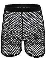 cheap -Men's Basic Boxers Underwear - Normal Low Waist White Black Blushing Pink S M L