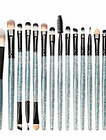 cheap -2020 new eye makeup brush set, 15 pcs professional eye shadow, concealer, eyebrow, foundation (blue 1)