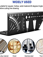cheap -Woodworking 3D Mitre Angle Measuring Square Size Measure Tool With Gauge Ruler Tools with Carpenter Pencil Marking Tools