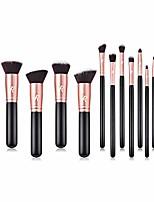 cheap -makeup brush set 14 pcs, rose gold, premium synthetic brush set & #40;rose gold& #41;