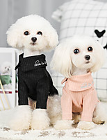 cheap -Dog Sweater Solid Colored Casual / Sporty Fashion Casual / Daily Winter Dog Clothes Breathable Black Blue Pink Costume Cotton S M L XL XXL