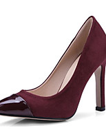 cheap -Women's Heels Pumps Pointed Toe Party & Evening Color Block PU Walking Shoes Wine / Almond / Black