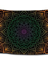 cheap -Wall Tapestry Art Decor Blanket Curtain Picnic Tablecloth Hanging Home Bedroom Living Room Dorm Decoration Polyester Black Background Gold Green Purple Colorful Bohemia Mandala View