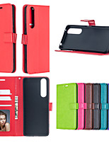 cheap -Case For Sony E5 M5 XP XA X XZ XA1 Xcompact Xperia Z5Mini xperiaZ5 L1 XZ1 XZ1Compact XZ2 XZ2ComPact XA1Utral L2 XA2 XZ3 XA3 Card Holder Shockproof  Flip Full Body Cases Solid Colored PU Leather TPU