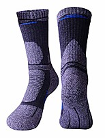 cheap -men's thickness cushion hiking socks for outdoor walking trekking crew socks 3322 navy 3 pairs, l/men us 7-9