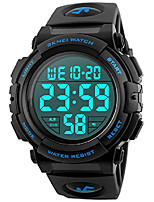 cheap -men's big face digital sports watch with multifunction 50m waterproof alarm stopwatch calendar el backlight 12h/24h (blue)