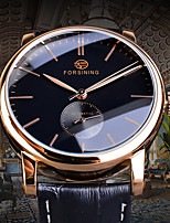 cheap -FORSINING Men's Mechanical Watch Automatic self-winding Vintage Style Casual Hollow Engraving Analog Rose Gold Black / Silver White+Silver / Two Years / Leather / Two Years