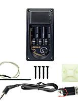 cheap -NAOMI Acoustic Guitar EQ Preamp Opus-III 3-Band EQ Equalizer Pickup Black