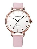 cheap -unisex classic luxury dress black leather rose gold case quartz wrist business analog watch 3 atm waterproof (rose gold case/black band)