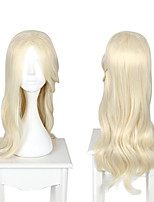 cheap -Cosplay Cosplay Cosplay Wigs Unisex Side bangs 70 inch Heat Resistant Fiber Matte White Adults' Anime Wig