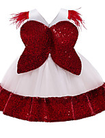 cheap -Princess Dress Costume Girls' Movie Cosplay Beautiful Girl Cute Vacation Dress Red / Pink / Green Dress Bow Christmas Halloween Carnival Polyester / Cotton Polyester