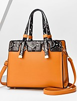 cheap -Women's Bags PU Leather Top Handle Bag Zipper for Daily / Date Black / Blue / Red / Gray