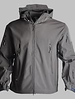 cheap -Men's Hiking Softshell Jacket Hiking Jacket Winter Outdoor Camo Windproof Fleece Lining Breathable Warm Winter Jacket Hunting Ski / Snowboard Fishing Black / Camouflage / Grey / Green / Brown