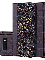 cheap -Case For Samsung Galaxy A9 2018 A10 M10 M20 M30 A20 A30 A40 A70 S10 5G A2 Core A20e Note 10 A10e A10S Card Holder Flip Full Body Cases Glitter Shine PU Leather