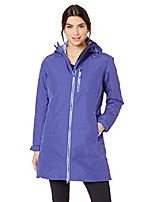 cheap -helly hansen women's long belfast insulated waterproof windproof breathable raincoat jacket with hood, 890 glacial purple, xx-large