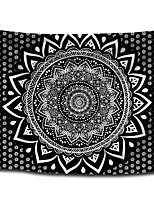 cheap -Wall Tapestry Art Decor Blanket Curtain Picnic Tablecloth Hanging Home Bedroom Living Room Dorm Decoration Polyster Bohemia Black Background White Mandala Beauty Views
