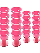 cheap -20pcs professional hair curlers rollers set magic diy hair style tool accessories-no heat no damage to hair for women lady girls(pink)