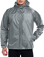 cheap -front-zip portable lightweight breathable rain jacket hooded raincoat for unisex gray-s