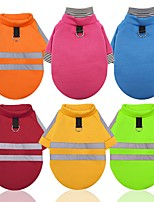 cheap -Dog Cat Coat Sweatshirt Solid Colored Classic Style Portable Winter Dog Clothes Yellow Red Light Green Costume Polyester XS S M L XL XXL
