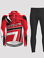 cheap -Men's Long Sleeve Cycling Jersey with Tights Black / Yellow Red Blue Novelty Bike Breathable Quick Dry Moisture Wicking Sports Novelty Mountain Bike MTB Road Bike Cycling Clothing Apparel