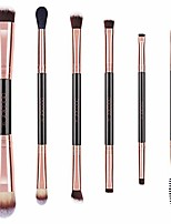 cheap -double sided makeup brushes, 6pieces double ended makeup brushes set professional foundation eyeshadow travel make up brushes kits