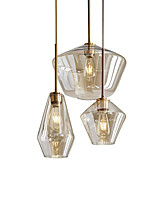 cheap -30 cm Single Design Pendant Light Glass Electroplated Country Nordic Style 110-120V 220-240V